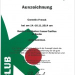 Auszeichnung Cornelia Franck