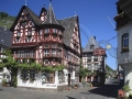 Bacharach das Weinhaus Altes Haus, ein Faschwerkaus aus dem jahre 1568 in der Oberstrasse; Vine houese Old House