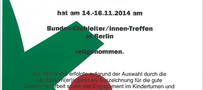 Bundes-Clubleiter-Treffen 2014